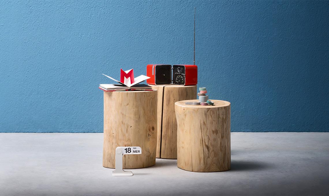 Tavoli Alti Fai Da Te : Un ceppo di legno diventa un oggetto di design casafacile