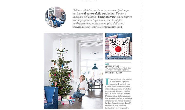 Decorazioni di Natale da stampare: il cuscino renna