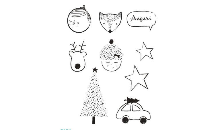 Decorazioni di Natale da stampare: sagome imbottite