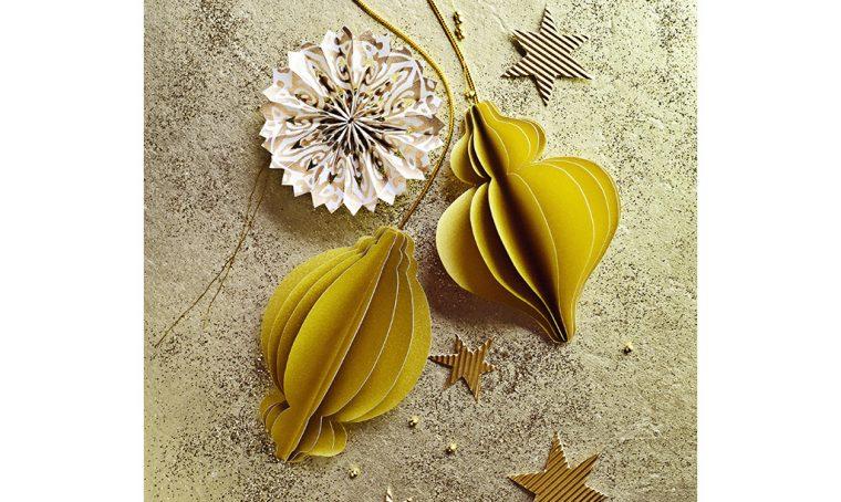 Decorazioni di Natale da stampare: le palline origami