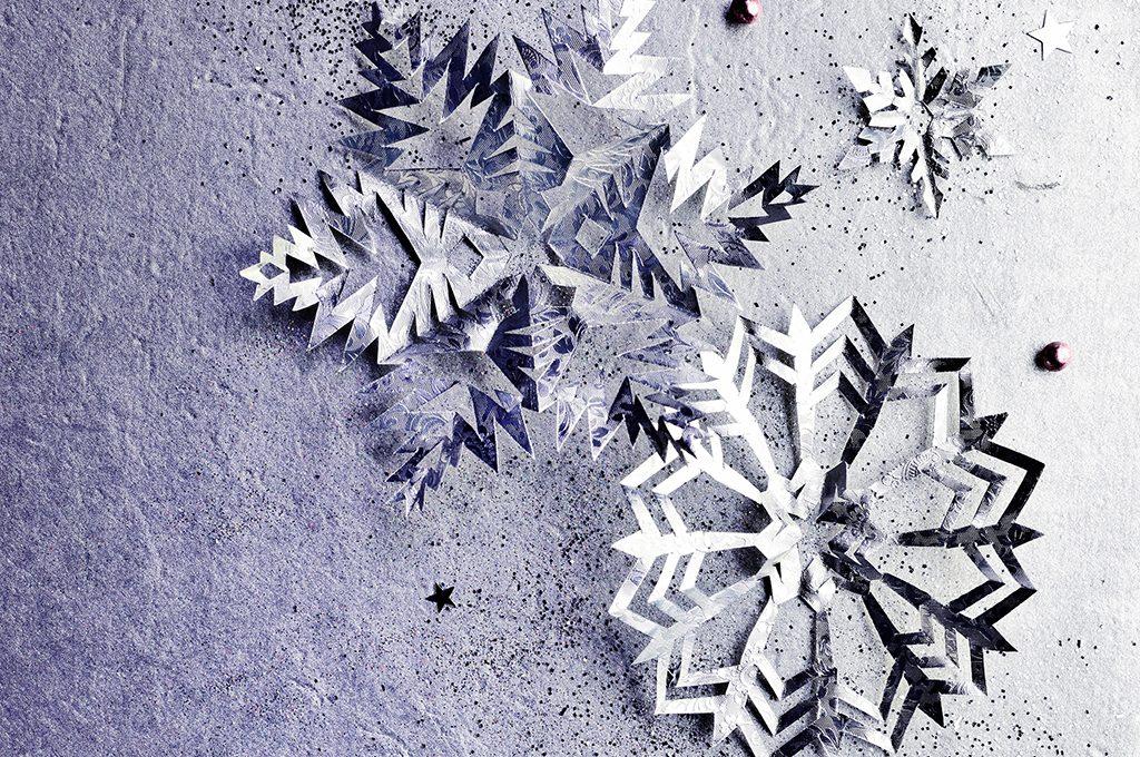 Fiocchi Di Neve Di Carta Facili : Decorazioni di natale da stampare fiocchi di neve in carta
