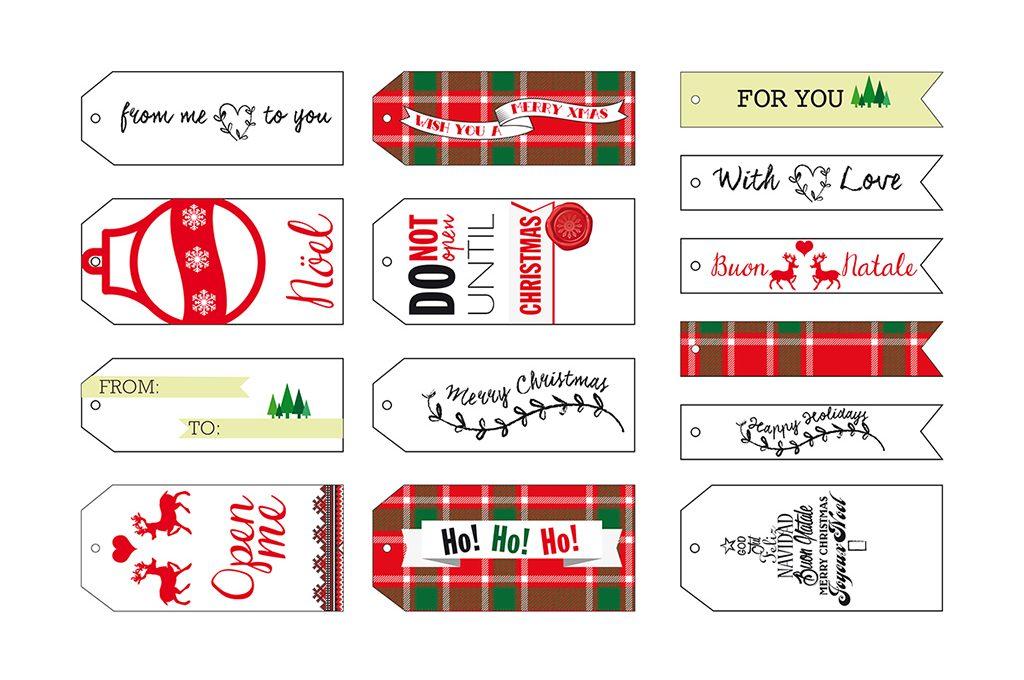 Etichette Per Regali Di Natale Da Stampare.Decorazioni Di Natale Da Stampare Etichette Personalizzate Casafacile
