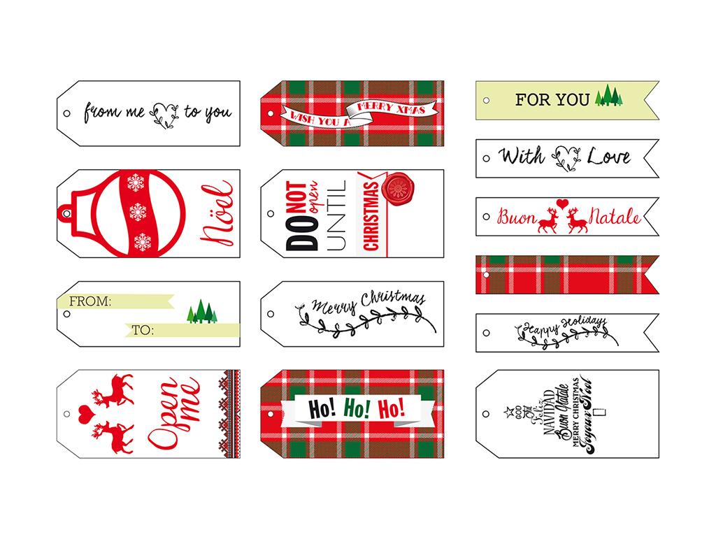 Etichette Natalizie Da Stampare decorazioni di natale da stampare: etichette personalizzate