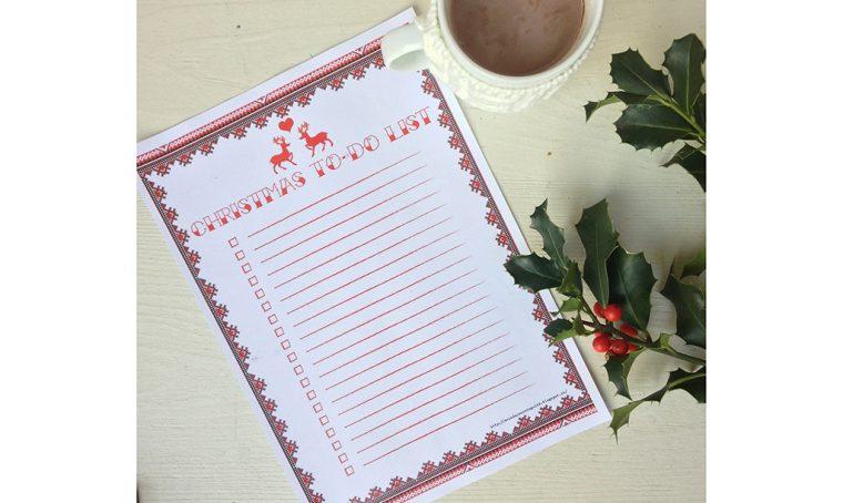 Stampa il template della letterina a Babbo Natale