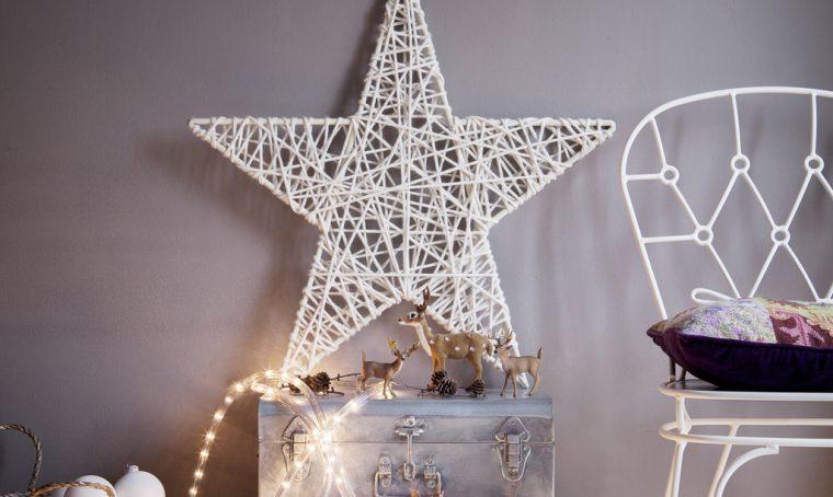Addobbi di Natale last minute: la stella di lana
