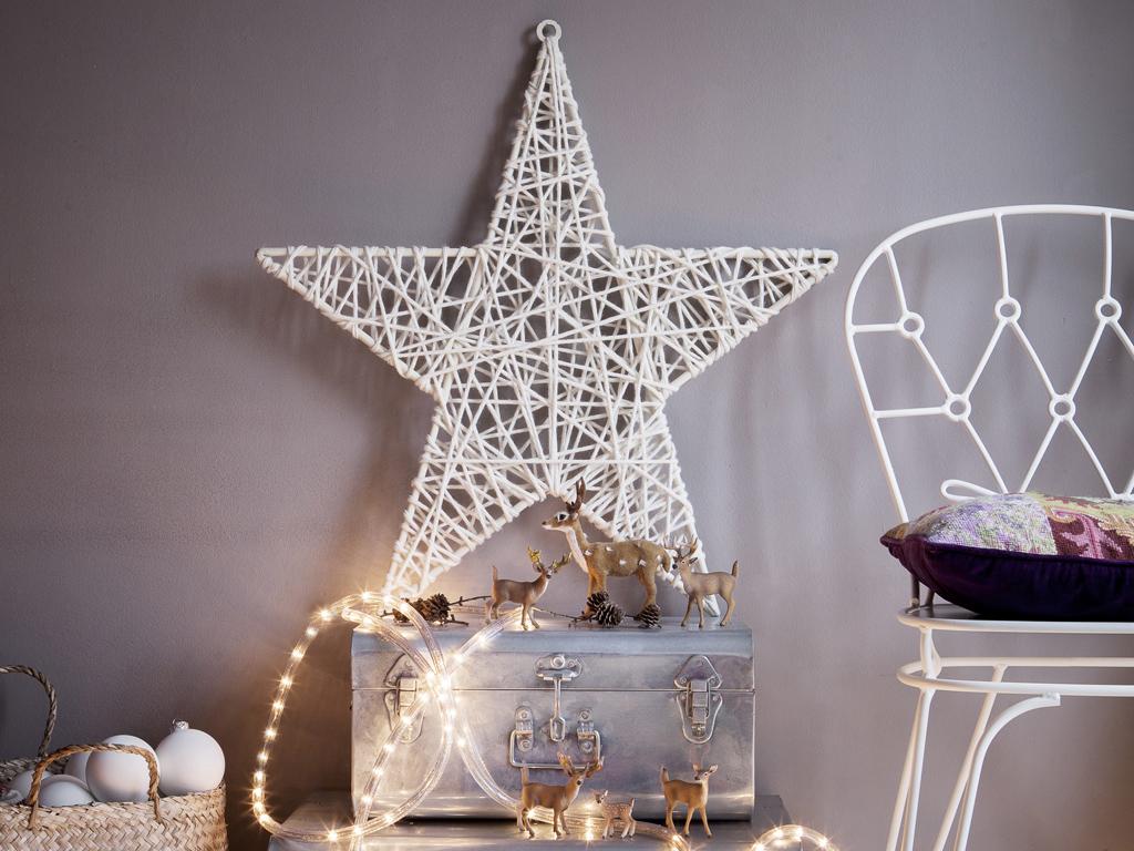 Stella Di Natale Legno.Addobbi Di Natale Last Minute La Stella Di Lana Casafacile