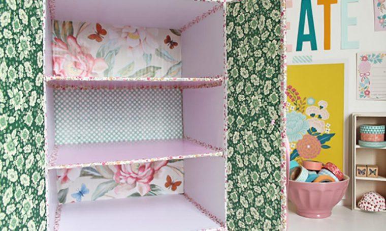 Riciclo creativo: la scatola di cartone diventa… un armadietto!
