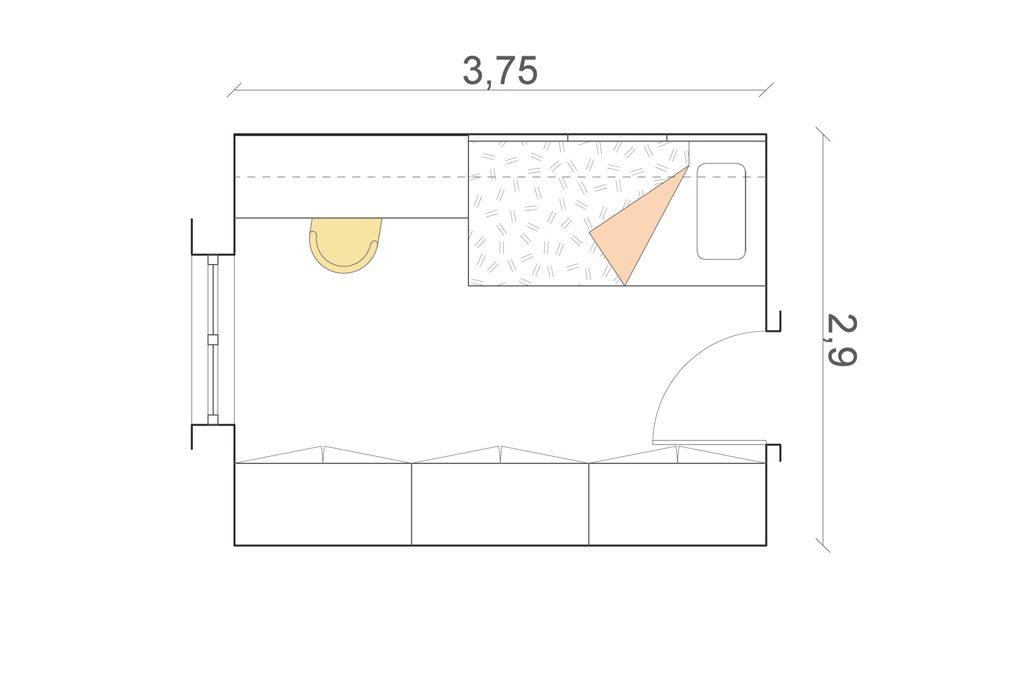 Camerette 8 progetti su misura casafacile for Misure standard stanze di una casa