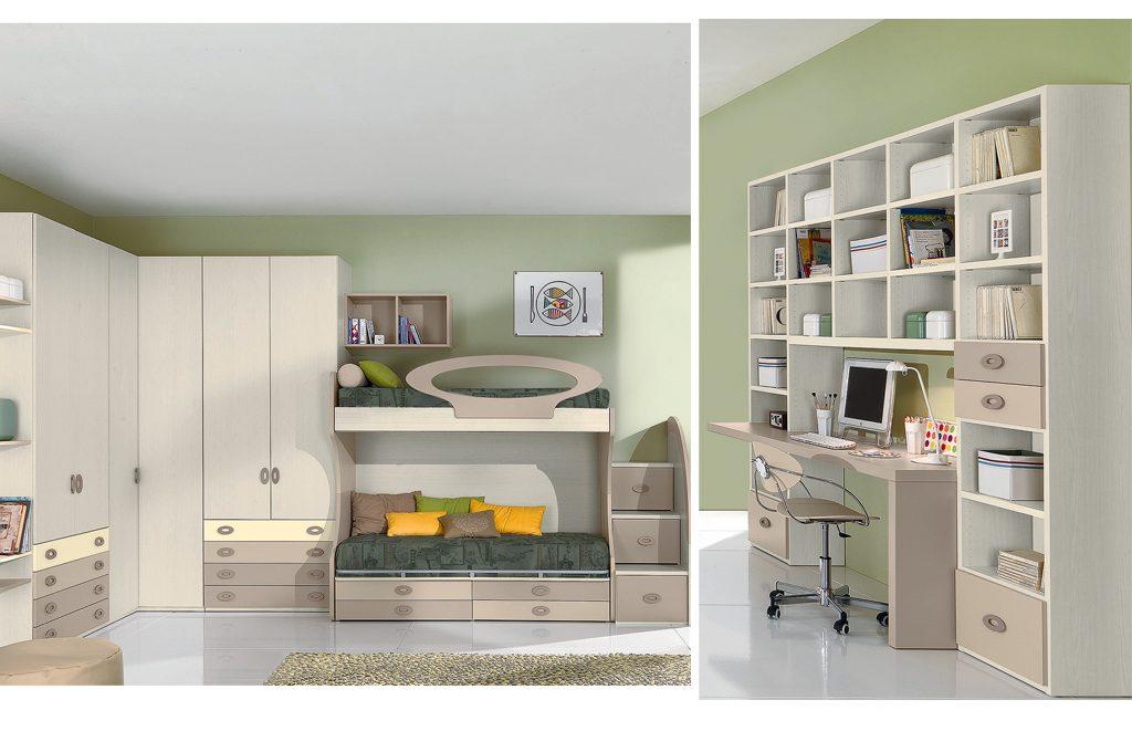 Camerette 8 progetti su misura casafacile for Camerette piccole dimensioni