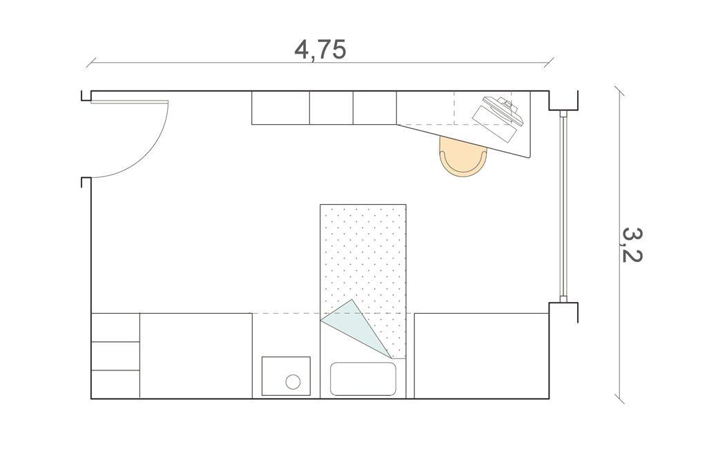Camerette 8 progetti su misura casafacile for Planimetria camera da letto