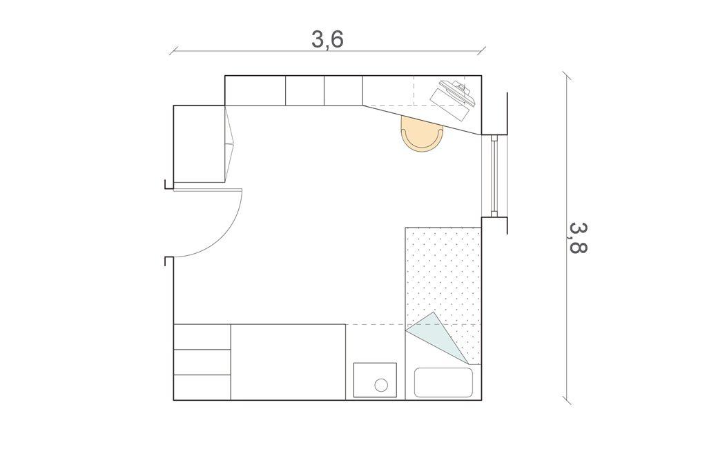 Camerette 8 progetti su misura casafacile for Arredare camera da letto 9 mq