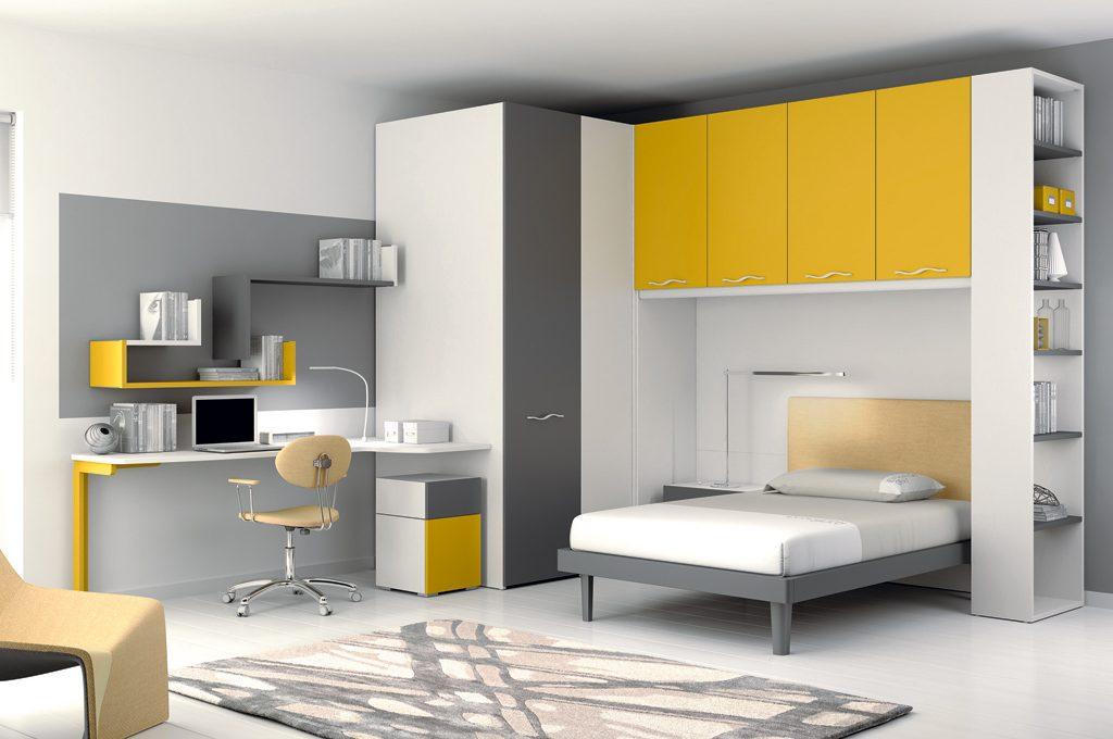 Camerette 8 progetti su misura casafacile for Finestra scorrevole 4 metri