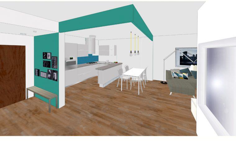 Una camera e un bagno in più sfruttando al meglio lo spazio