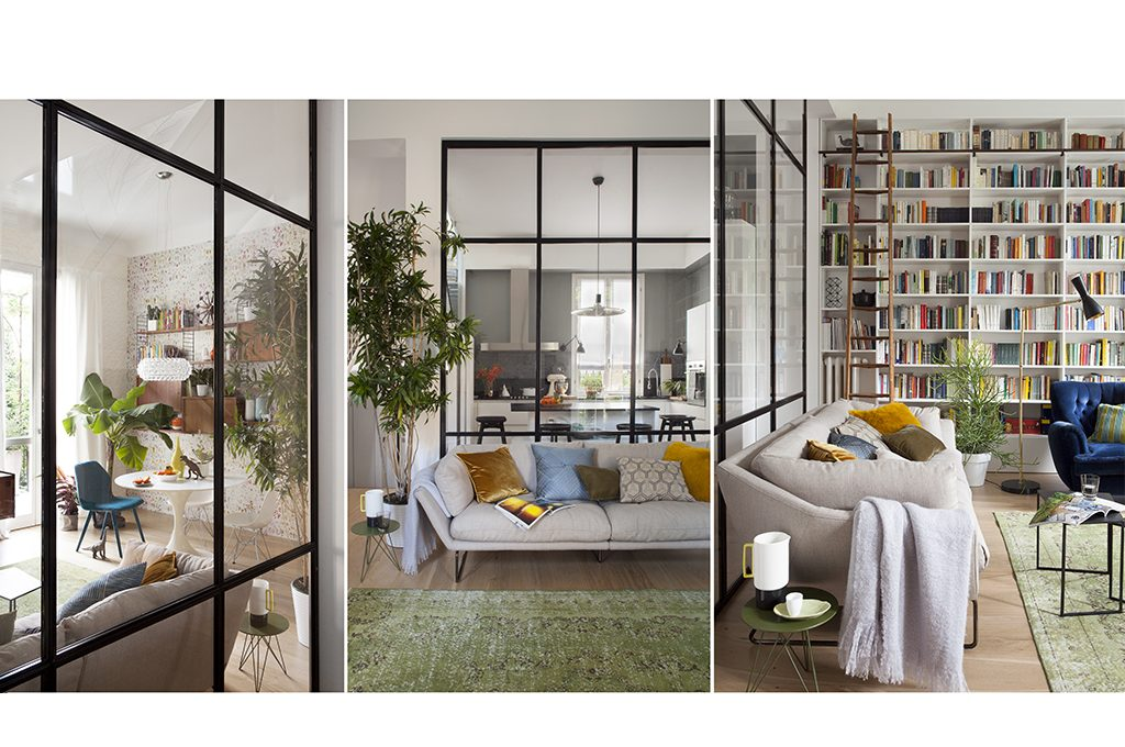 Dividere gli spazi per unirli con una parete vetrata for Log planimetrie nuove case