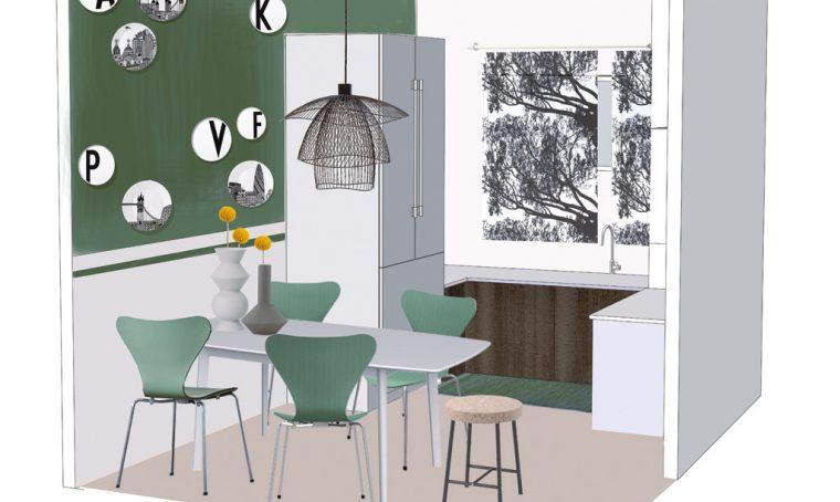 SOS CasaFacile: due colori per la parete della zona pranzo