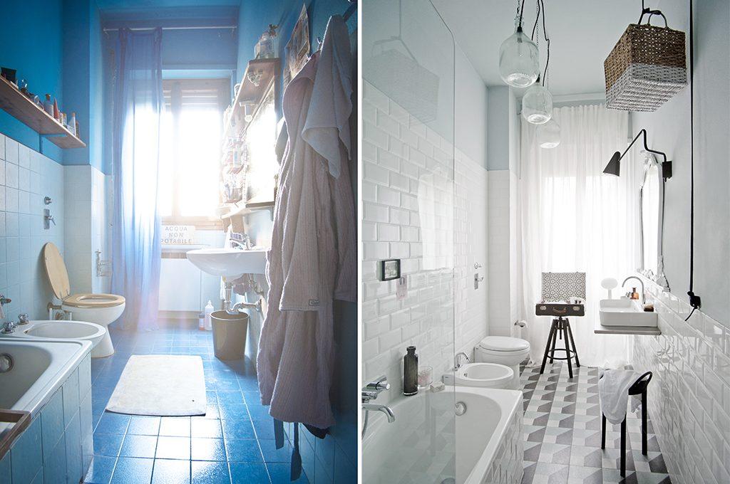 Prima dopo come trasformare un bagno datato e buio con stile