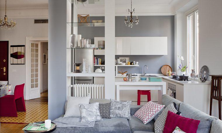 Open space: come dividere cucina e soggiorno