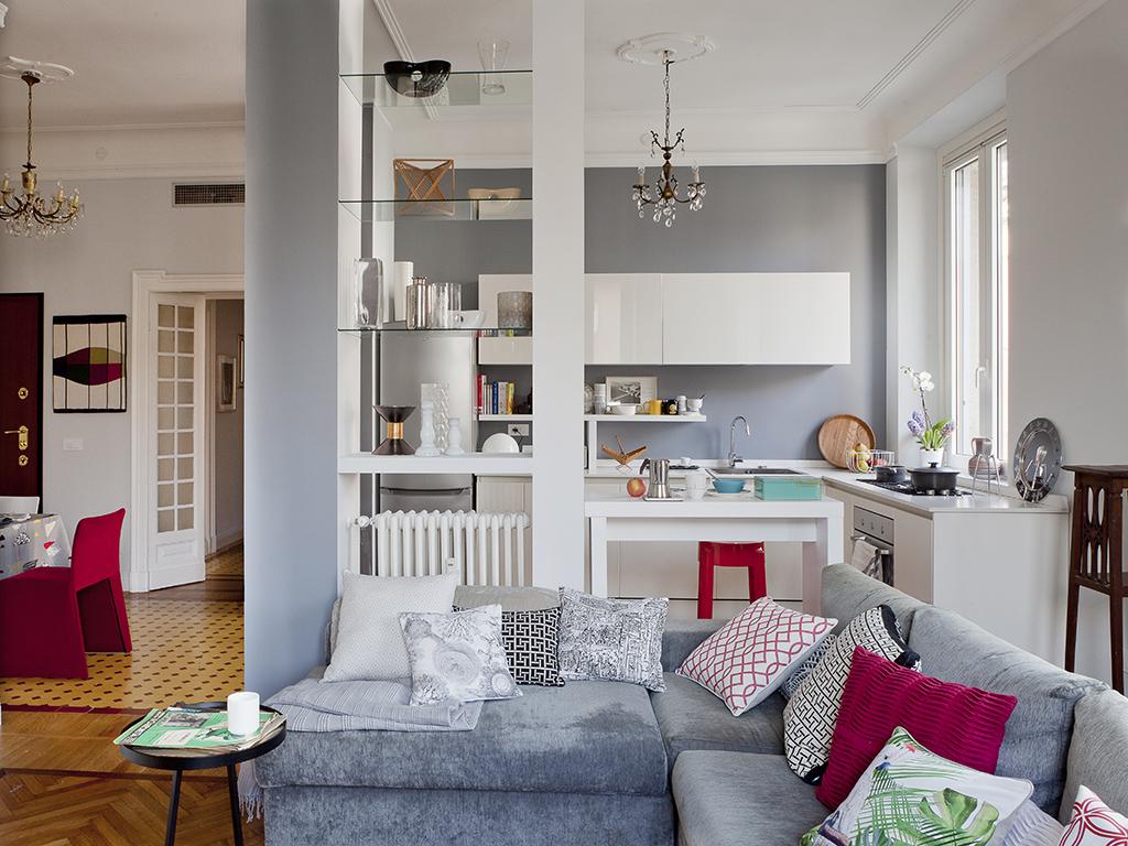 Open space come dividere cucina e soggiorno casafacile for Cucina open space con pilastri