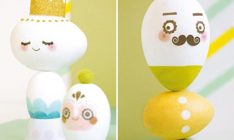 Uova di Pasqua decorate a colori
