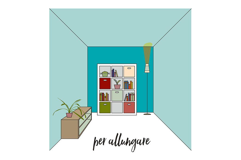 Allungare e allargare una stanza piccola con il colore for Decorare una stanza