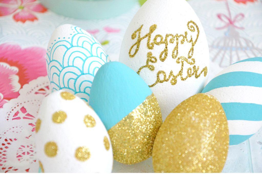 Uova di pasqua colorate e decorate casafacile - Uova di pasqua decorate ...