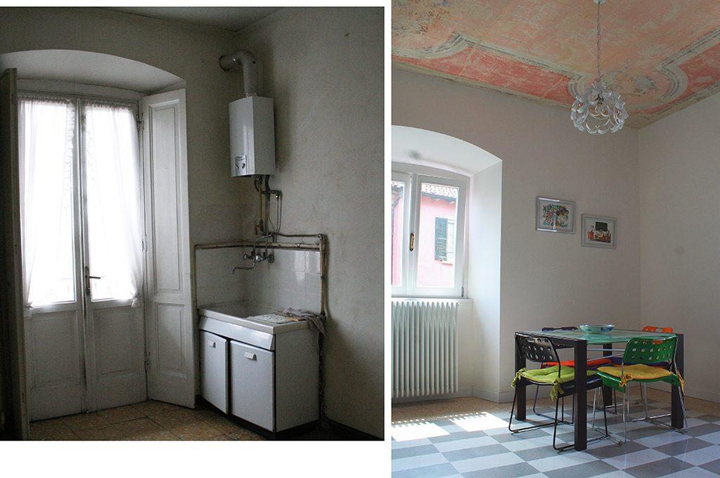 Soffitto A Volta Affrescato : Ristrutturare una casa depoca e scoprire i soffitti affrescati