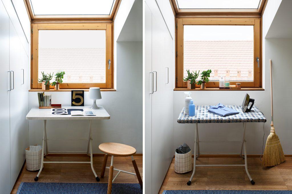 Asse da stiro e scrivania: un tavolo doppio uso casafacile