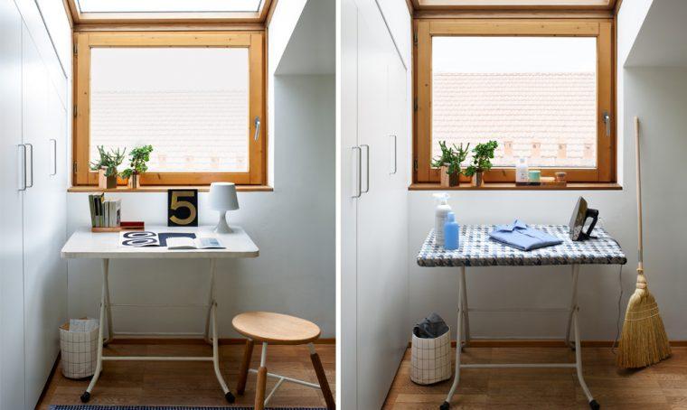 Asse da stiro e scrivania: un tavolo doppio uso