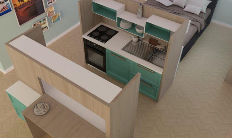 La mini-cucina ideata dai giovani designer
