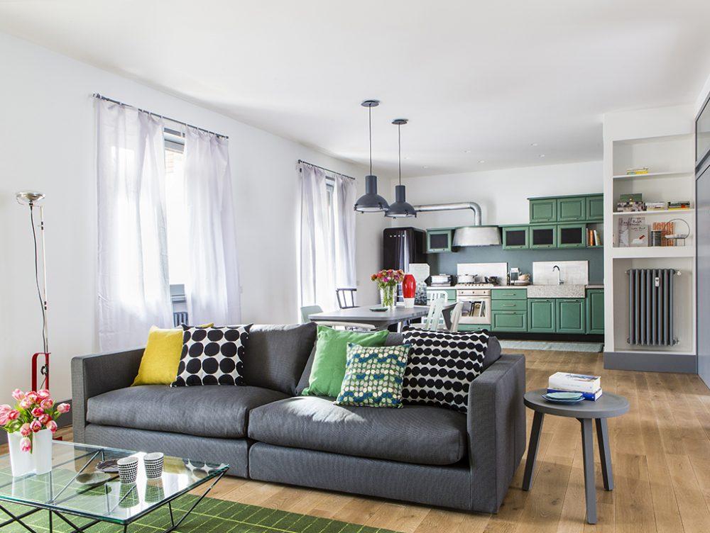 Cucina-soggiorno: un grande ambiente unico
