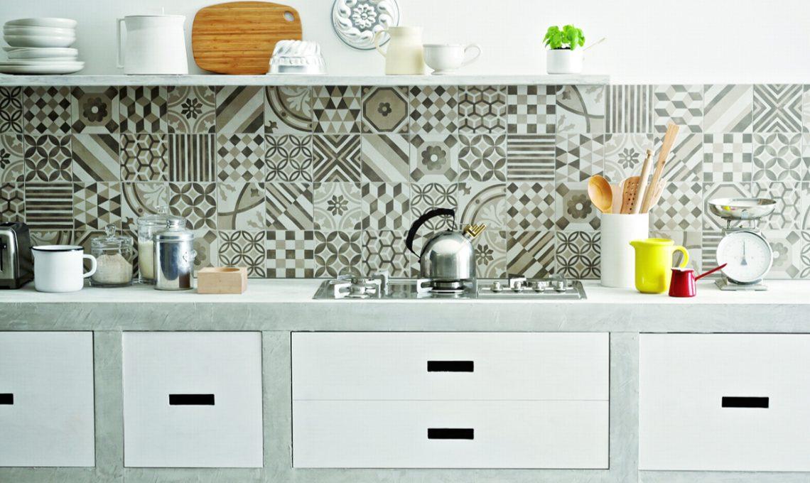 Cementine e piastrelle geometriche casafacile - Piastrelle geometriche cucina ...