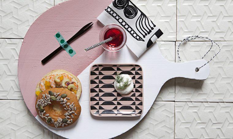 I taglieri decorati da usare come piatti