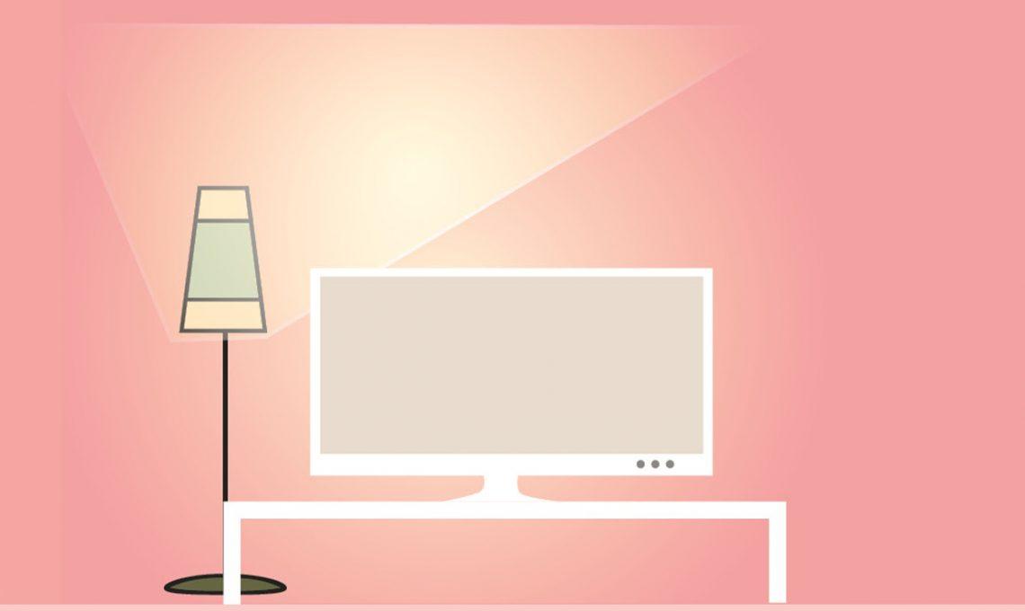 L\'altezza e la distanza giusta per guardare bene la tv ...