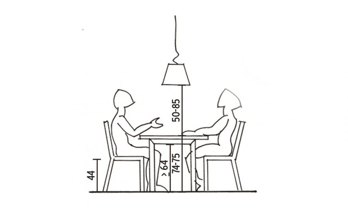 L 39 altezza giusta per il tavolo da pranzo casafacile - Altezza tavoli da pranzo ...