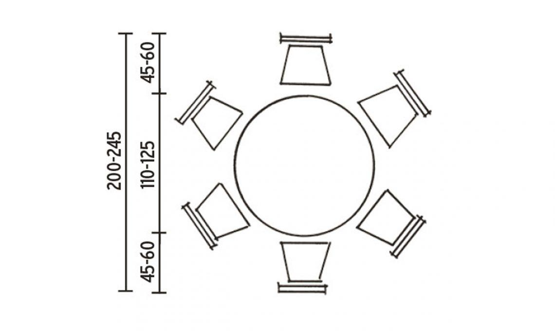 L 39 altezza giusta per il tavolo da pranzo casafacile - Dimensioni tavolo tondo 4 persone ...