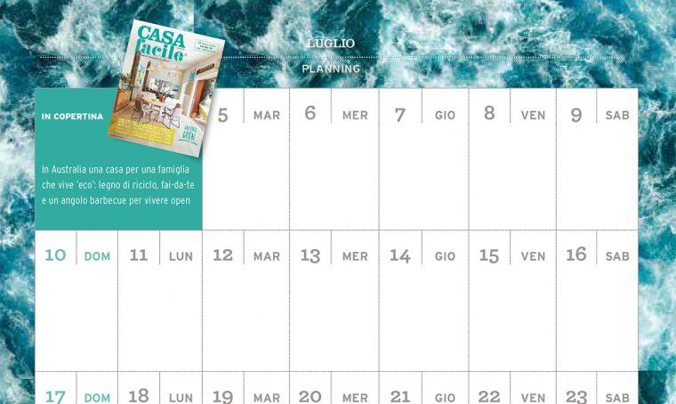 CasaFacile di luglio ti regala il planning del mese