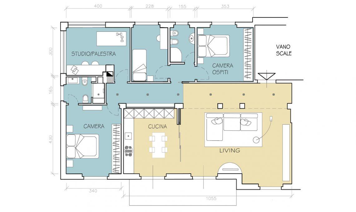 Come dividere casa 100 mq affordable with come dividere - Quanto costa il progetto di una casa ...