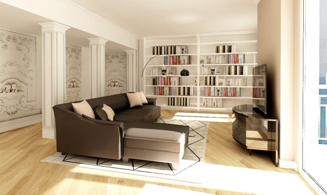 Come ricavare un grande soggiorno eliminando il corridoio for Idee per dividere cucina e soggiorno