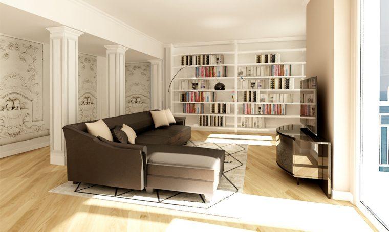 Pavimento in graniglia in una casa moderna casafacile for Arredare un ingresso stretto