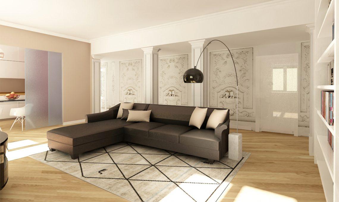 Come ricavare un grande soggiorno eliminando il corridoio ...
