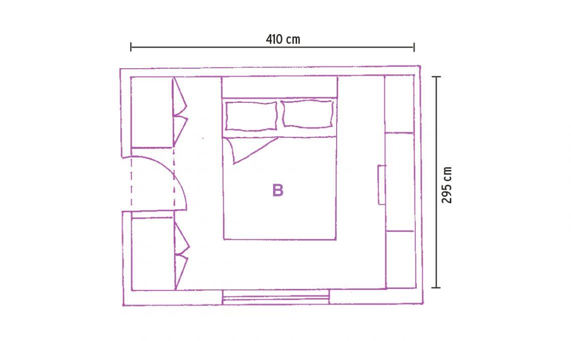 Armadio a ponte l 39 ideale se la camera mini casafacile for Arredare camera da letto 9 mq