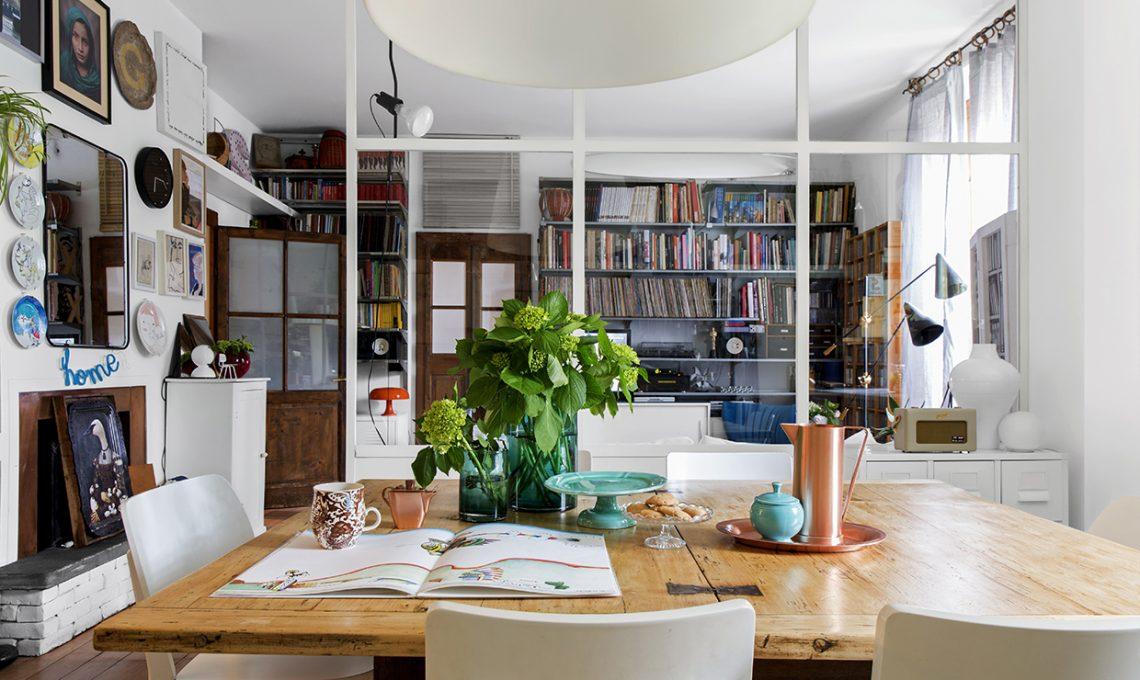 Parete vetrata tra soggiorno e cucina trasformazione di - Cucine con vetrate ...