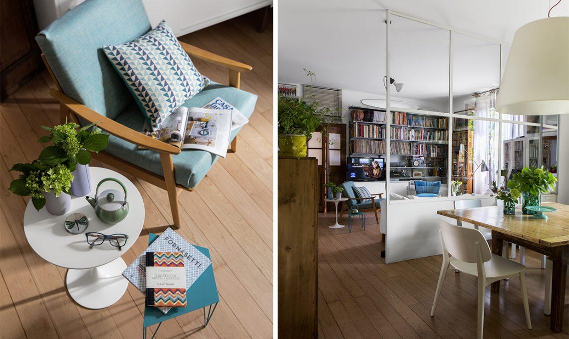 Parete vetrata tra soggiorno e cucina trasformazione di un open space casafacile - Piccola palestra in casa ...