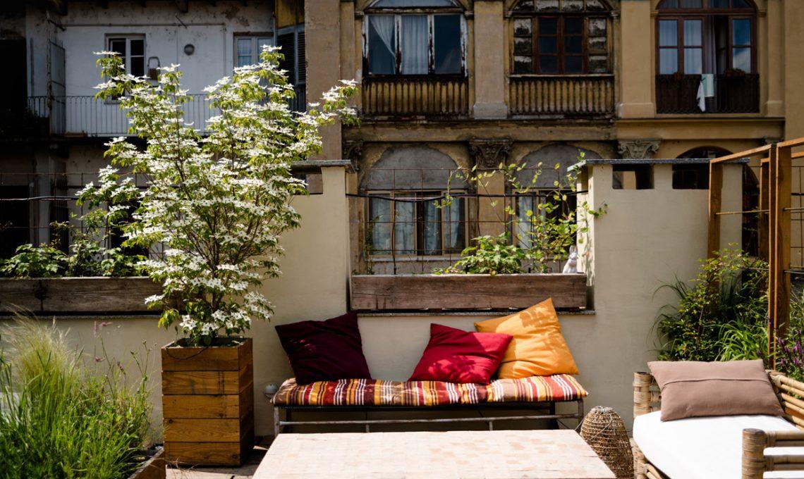 Top un giardino sui tetti di torino with giardini sui terrazzi for Giardini sui terrazzi