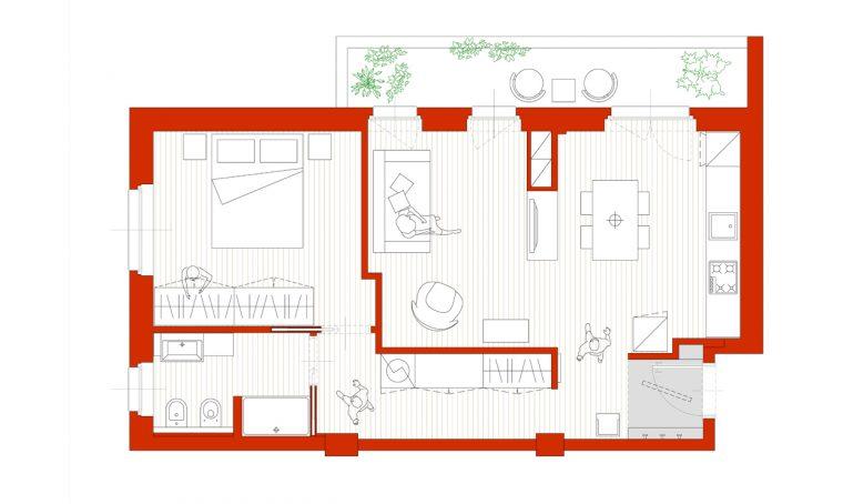 Con l'armadio multifunzione si crea una stanza in più