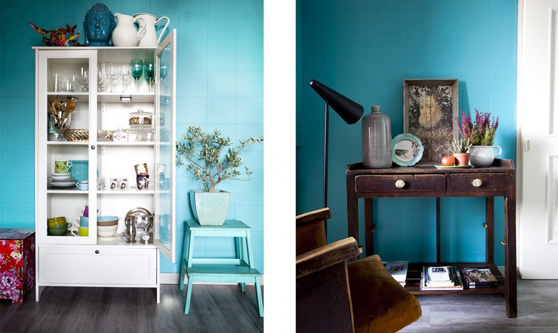 Come illuminare una stanza buia con il colore azzurro for Pareti verde acqua