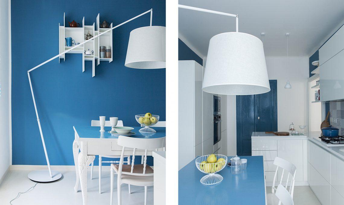 Pareti Azzurre Camera Da Letto. Notte Con Proposta Con Colori Della ...