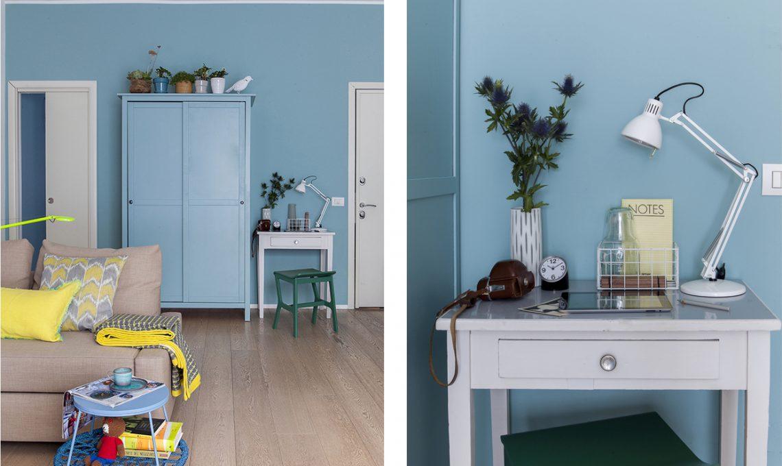 Come illuminare una stanza buia con il colore azzurro ...