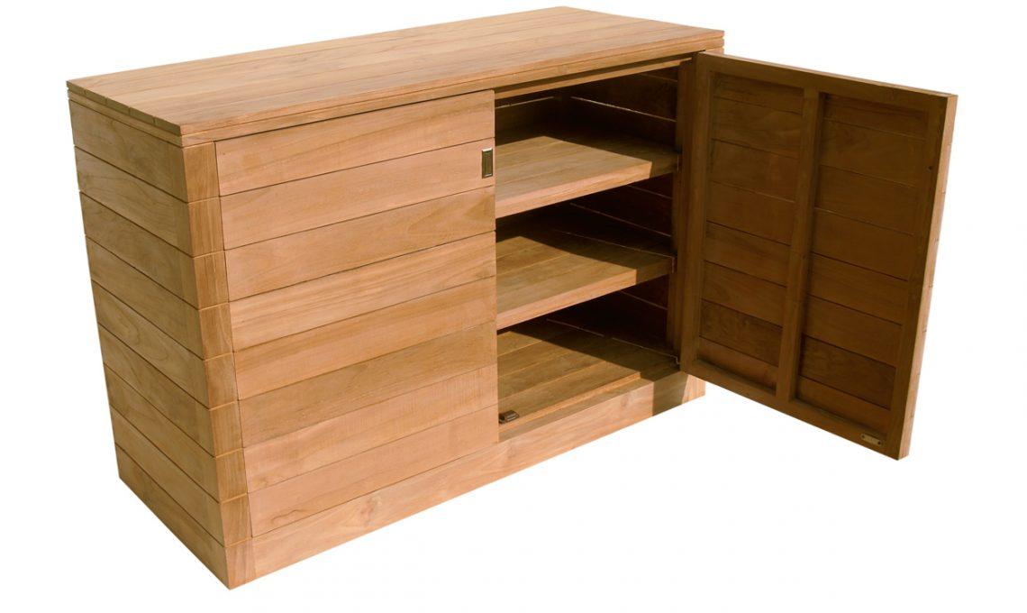 14 armadi e contenitori da balcone pratici e belli - Armadietto legno per esterno ...