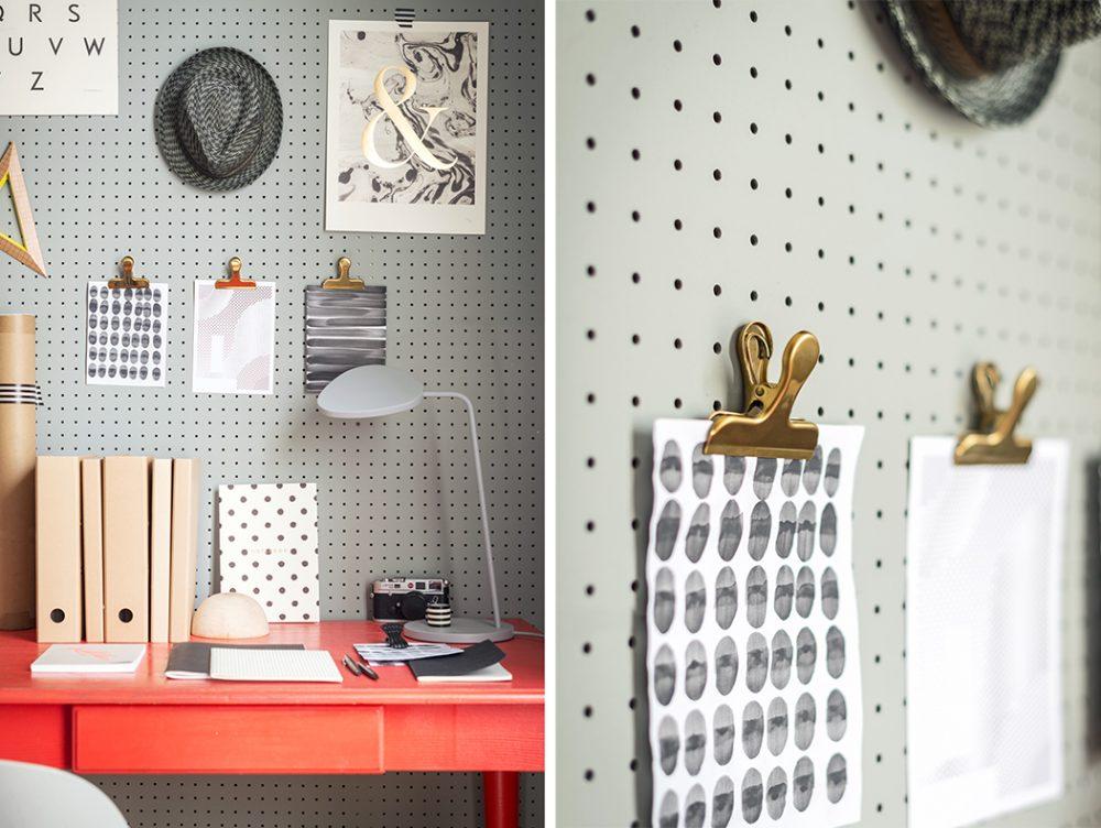 Crea la tua parete attrezzata con il pegboard